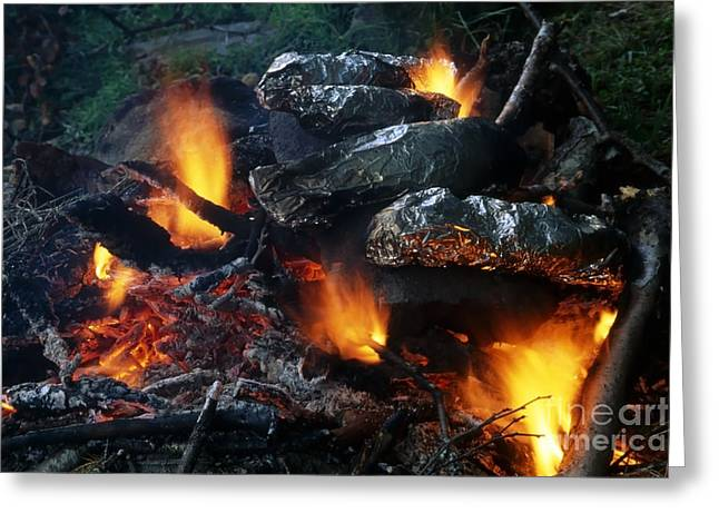 Engulfing Greeting Cards - Barbecue Greeting Card by IB Photo