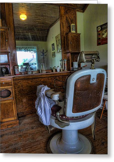Gift For You Greeting Cards - Barber - Time for a Cut II Greeting Card by Lee Dos Santos