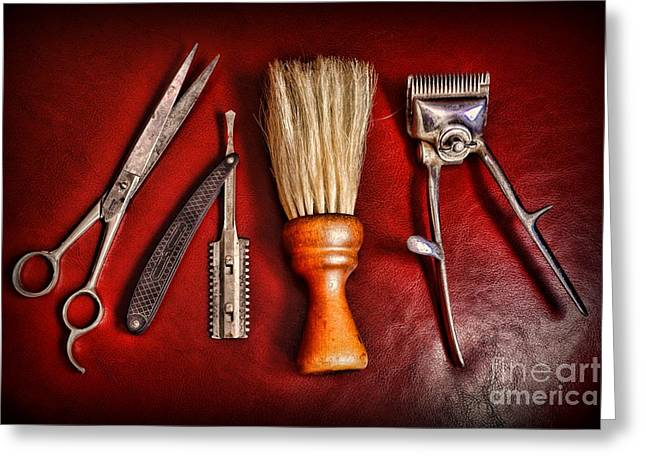 Scissors Greeting Cards - Barber - After the Haircut Greeting Card by Paul Ward