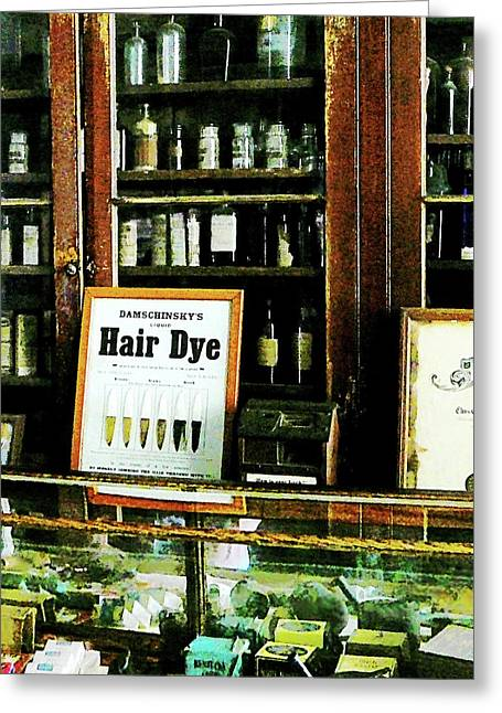 Hair Dye Greeting Cards - Barber - Hair Dye Greeting Card by Susan Savad