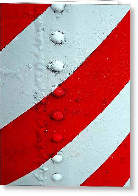 Paint Photograph Greeting Cards - Barber Pole Greeting Card by Chris Berry