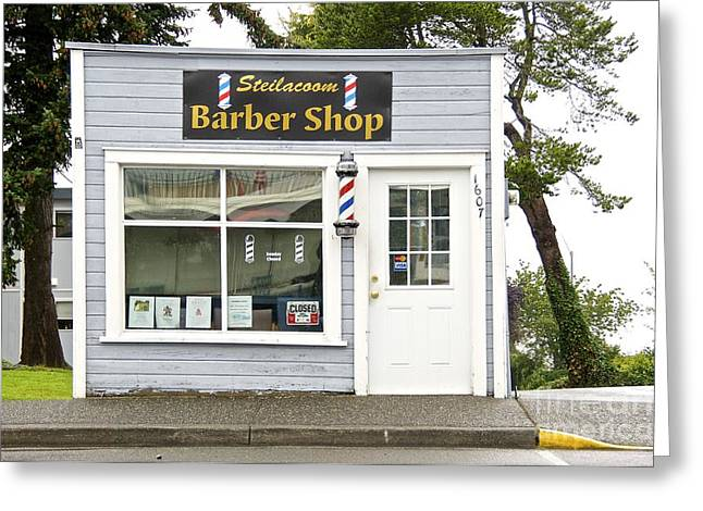 Barber Shop Greeting Card by Sean Griffin