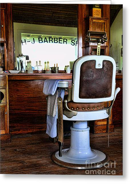 Paul Ward Greeting Cards - Barber - The Barber Shop Greeting Card by Paul Ward