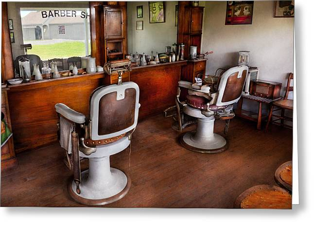 Customizable Greeting Cards - Barber - The Hair Stylist Greeting Card by Mike Savad