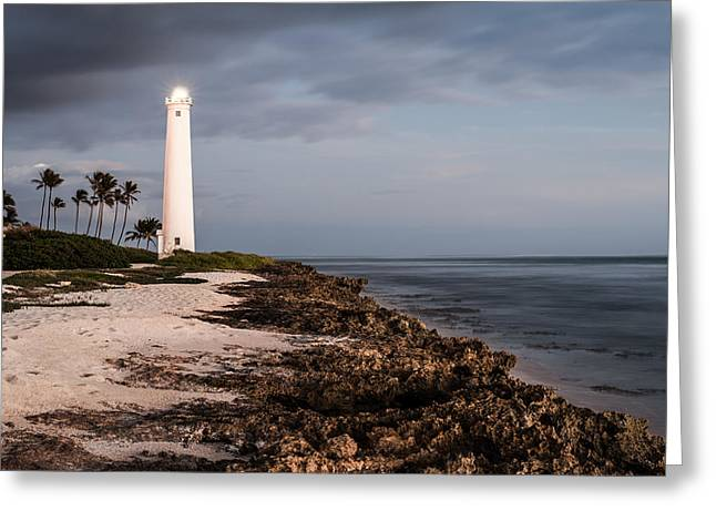 Ocean Prints Greeting Cards - Barbers Point Lighthouse Greeting Card by Jason Bartimus