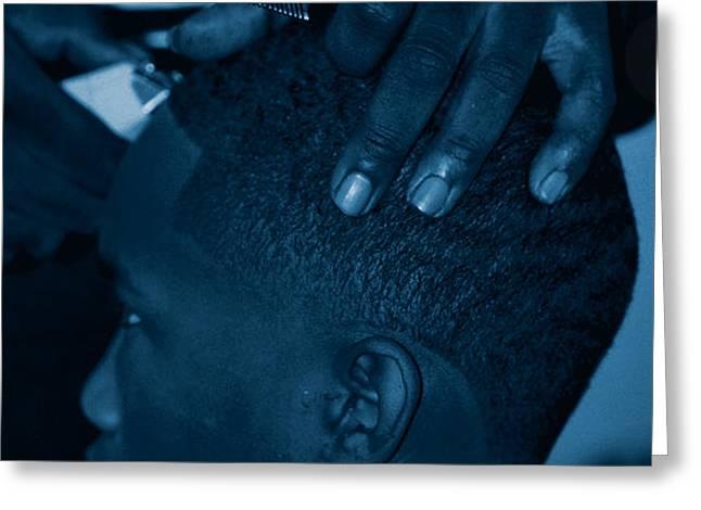 Barbershop  Art Greeting Card by Jerome Lynch