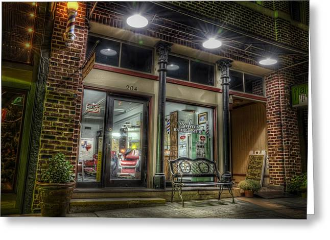 Texas Architecture Greeting Cards - Barbershop since 1892 Greeting Card by Scott Norris