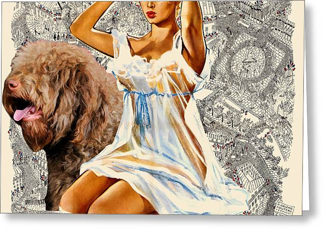 Barbet Art - Una Parisienne Movie Poster Greeting Card by Sandra Sij