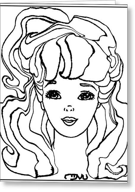 Barbie Doll Bd0000000001 Greeting Card by Pemaro