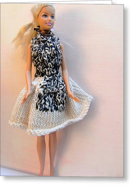 A Summer Evening Greeting Cards - Barbie Doll on a Night Out Greeting Card by L M Reid