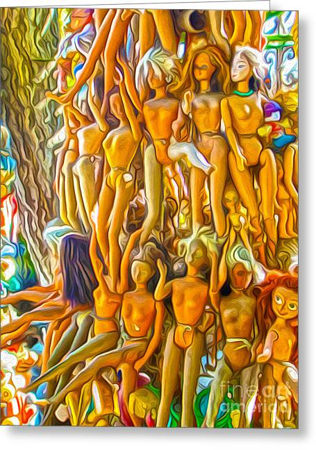 Gregory Dyer Greeting Cards - Barbie Tree Greeting Card by Gregory Dyer