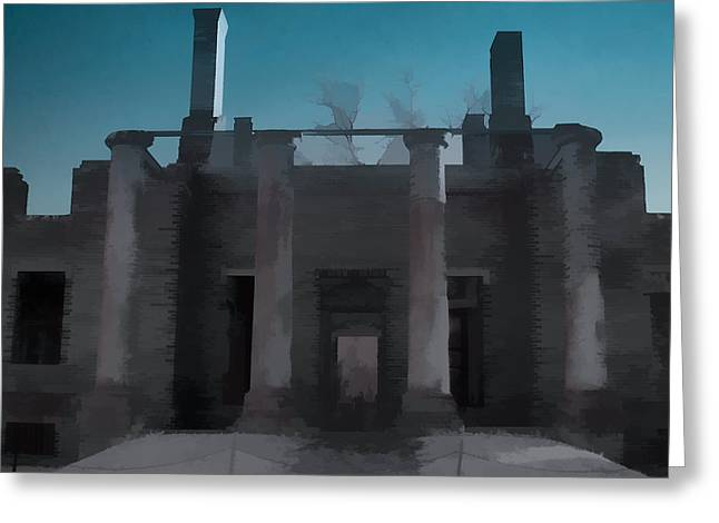 Nikon D200 Greeting Cards - Barboursville Ruins Greeting Card by Daniel Milligan