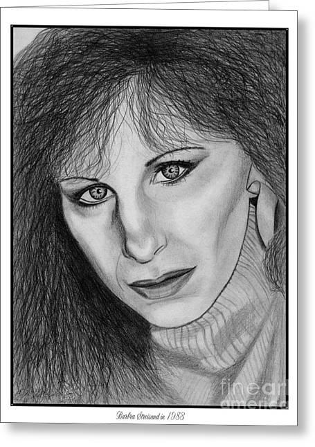 Barbra Streisand In 1983 Greeting Card by J McCombie