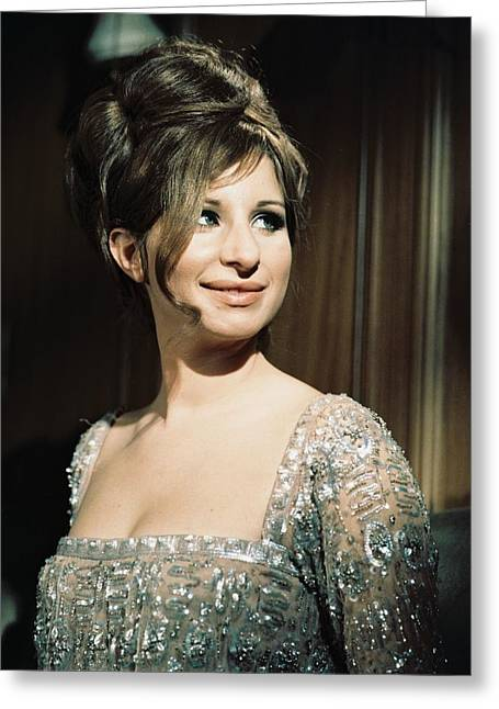 Musical Film Greeting Cards - Barbra Streisand in Funny Girl  Greeting Card by Silver Screen