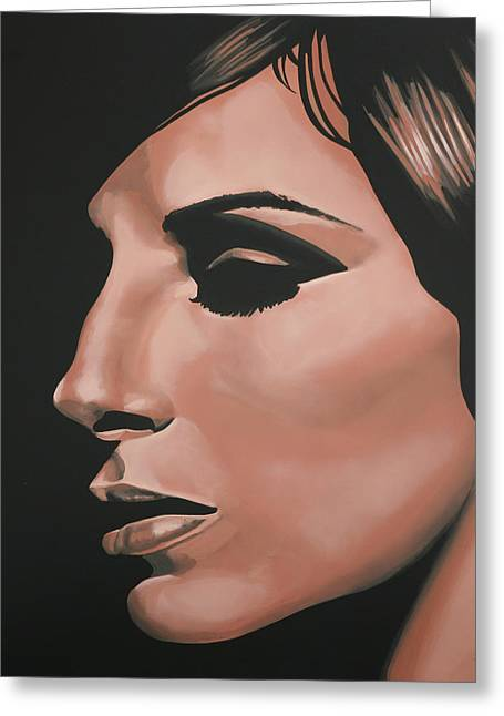 Barbra Streisand Greeting Card by Paul Meijering