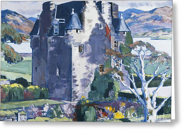 Colorist Greeting Cards - Barcaldine Castle Greeting Card by Francis Campbell Boileau Cadell