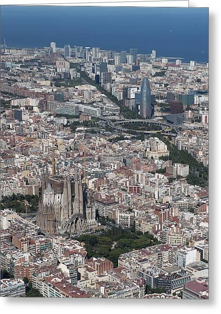Catalunya Greeting Cards - Barcelona, Catalunya Greeting Card by Jordi Todó