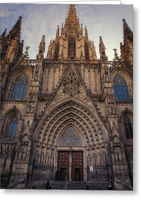 Famous Photographer Greeting Cards - Barcelona Cathedral Greeting Card by Joan Carroll