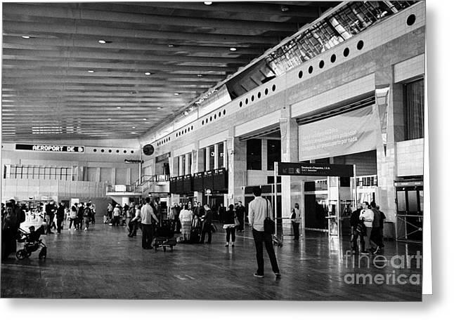 Meeting. Point Greeting Cards - Barcelona El Prat Airport Terminal 2 Catalonia Spain Greeting Card by Joe Fox