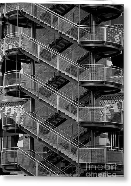 Staircase Mixed Media Greeting Cards - Barcelona Stairs II Greeting Card by Louise Fahy