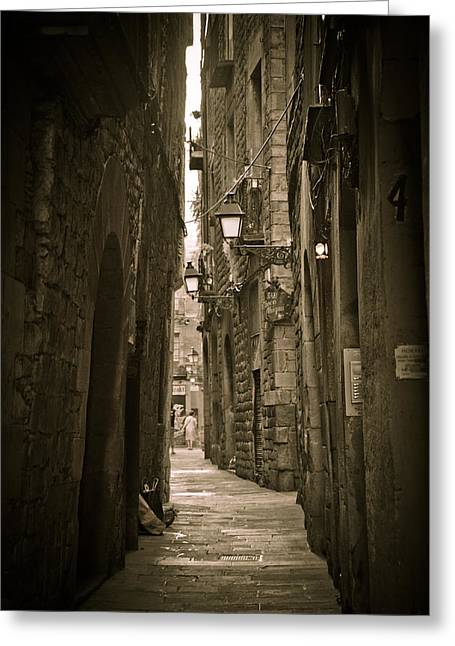 Best Sellers -  - The Nature Center Greeting Cards - Barcelona street Greeting Card by Mesha Zelkovich