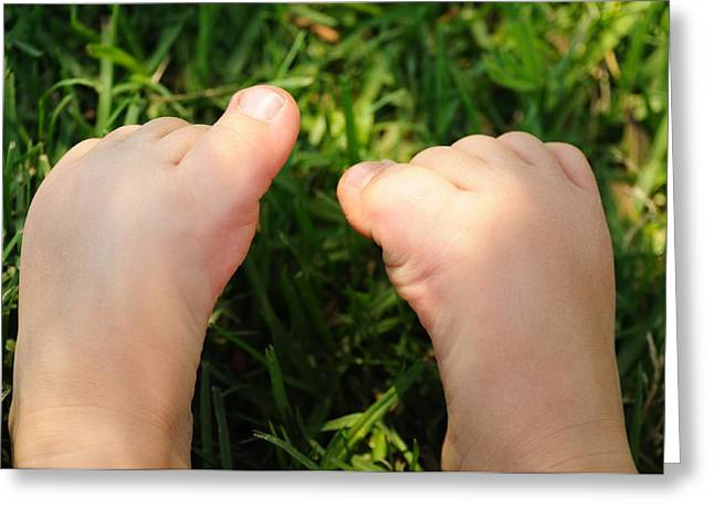 Emotional Gestures Greeting Cards - Bare feet Greeting Card by View Factor Images