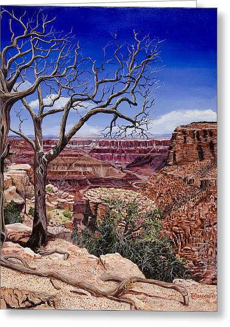 Pinion Paintings Greeting Cards - Bare Limbs Greeting Card by Timithy L Gordon
