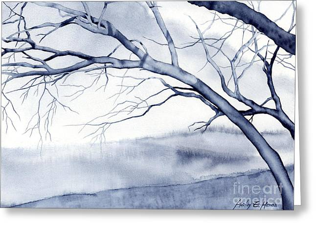 Tree Art Greeting Cards - Bare Trees Greeting Card by Hailey E Herrera