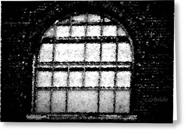 Window Bars Greeting Cards - Bared Arch Greeting Card by Chris Berry