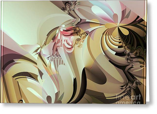 Ultra Modern Greeting Cards - Barely Dusk Greeting Card by Michelle H