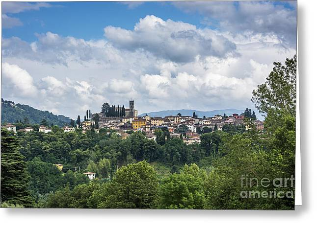 Sienna Italy Greeting Cards - Barga Greeting Card by Tony Priestley