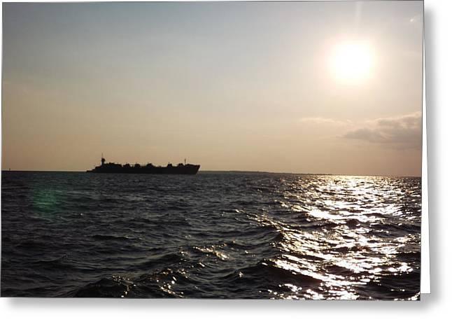 Gaines Greeting Cards - Barge on the Gulf 1 Greeting Card by Tamara Van Scoyk