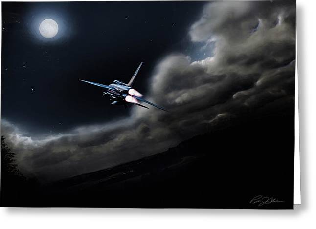 Vintage Airplane Greeting Cards - Bark At The Moon Greeting Card by Peter Chilelli