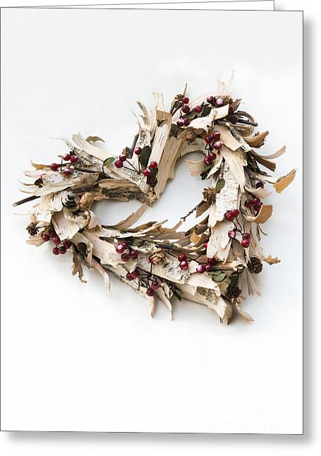 Occasion Greeting Cards - Bark Heart Greeting Card by Anne Gilbert