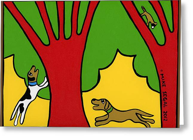 Mike Segal Greeting Cards - Barking Up The Wrong Tree Greeting Card by Mike Segal