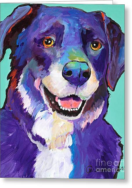 Portriats Greeting Cards - Barkley Greeting Card by Pat Saunders-White
