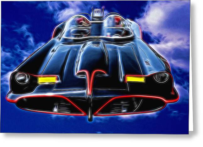 Batmobile Greeting Card by Allen Beatty