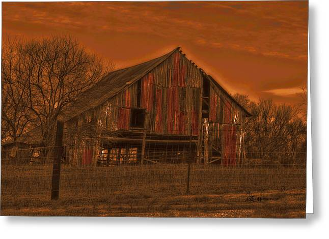 Tennessee Barn Digital Art Greeting Cards - Barn 22 Greeting Card by EricaMaxine  Price