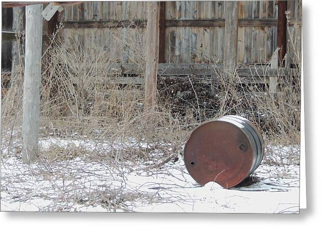 Old Rustic Barn And Barrel Greeting Cards - Barn #38 Greeting Card by Todd Sherlock