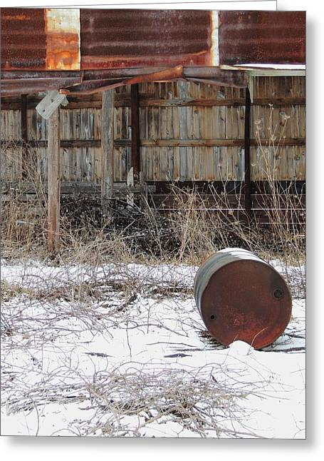 Barn And Rusted Barrel Greeting Cards - Barn #41 Greeting Card by Todd Sherlock