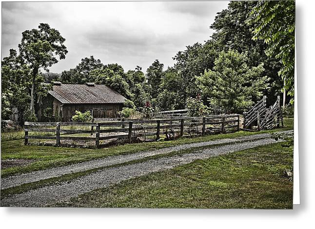 Barnstormer Greeting Cards - Barn and Corral Greeting Card by Guy Shultz