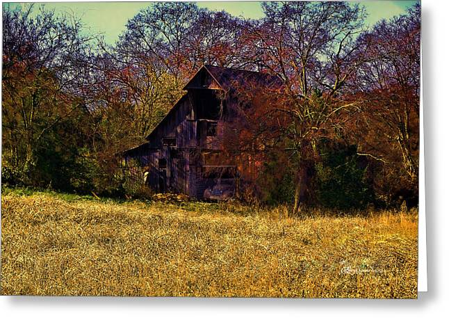 Tennessee Barn Digital Art Greeting Cards - Barn and Diamond Reo-Featured in Barns Big and Small Group Greeting Card by EricaMaxine  Price