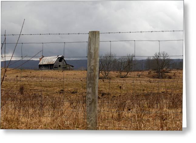 Gatlinburg Tennessee Greeting Cards - Barn and Fence 2 Greeting Card by Ian Alford