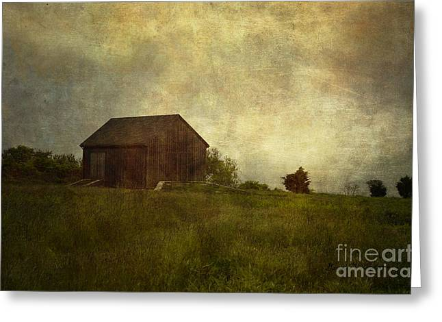 Pictorial Landscape Greeting Cards - Barn and Meadow Greeting Card by David Gordon