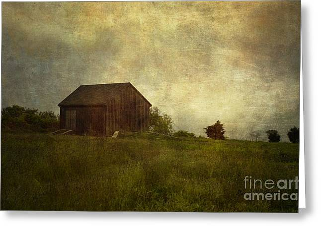 Chromatic Greeting Cards - Barn and Meadow Greeting Card by Dave Gordon