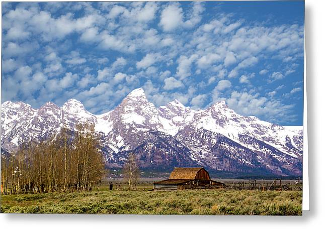 Most Photographs Greeting Cards - Barn and Rocky Mountains Greeting Card by Douglas Barnett