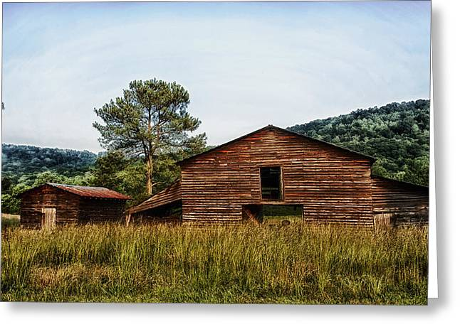 Wood Shed Greeting Cards - Barn and Shed in Alabama Greeting Card by Mountain Dreams