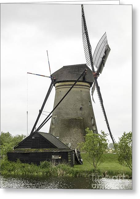 Outbuildings Greeting Cards - Barn and Windmill Kinderdijk Greeting Card by Teresa Mucha