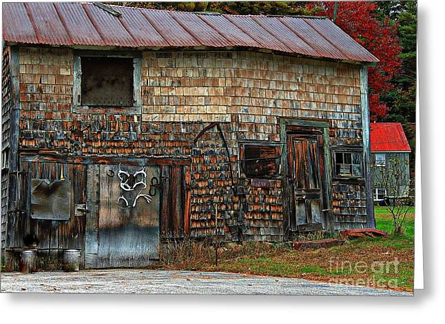 Red Roofed Barn Greeting Cards - Barn Art Greeting Card by Marcia Lee Jones