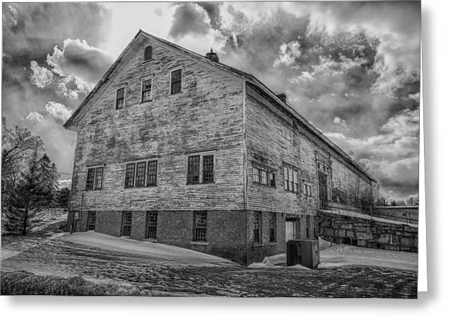 Best Sellers -  - Maine Farmhouse Greeting Cards - Barn at AMHI   7K00333 Greeting Card by Guy Whiteley